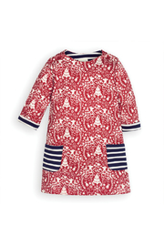 JoJo Maman Bebe Reindeer A-Line Dress - Front cropped
