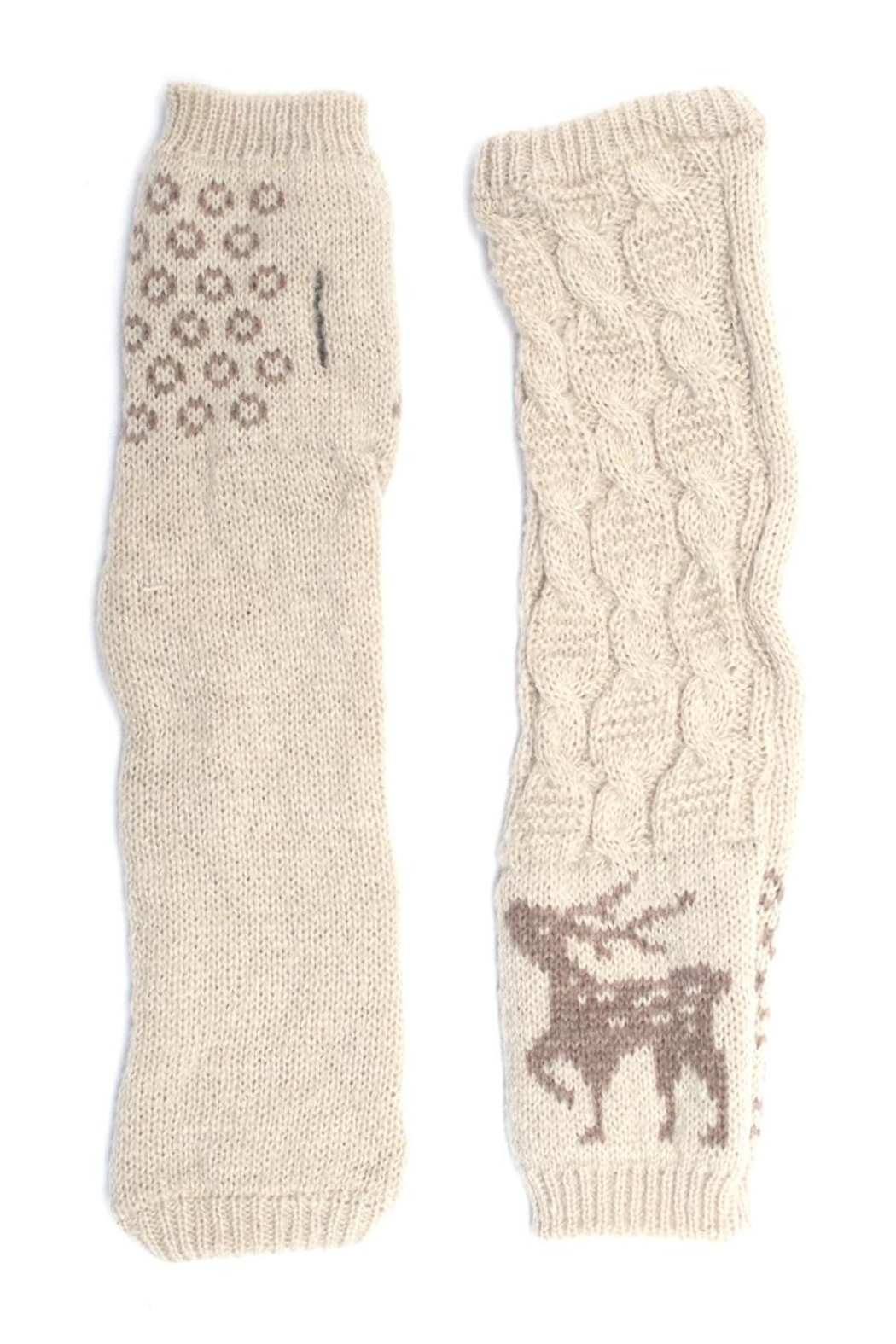 Urbanista Reindeer Arm Warmers - Front Cropped Image