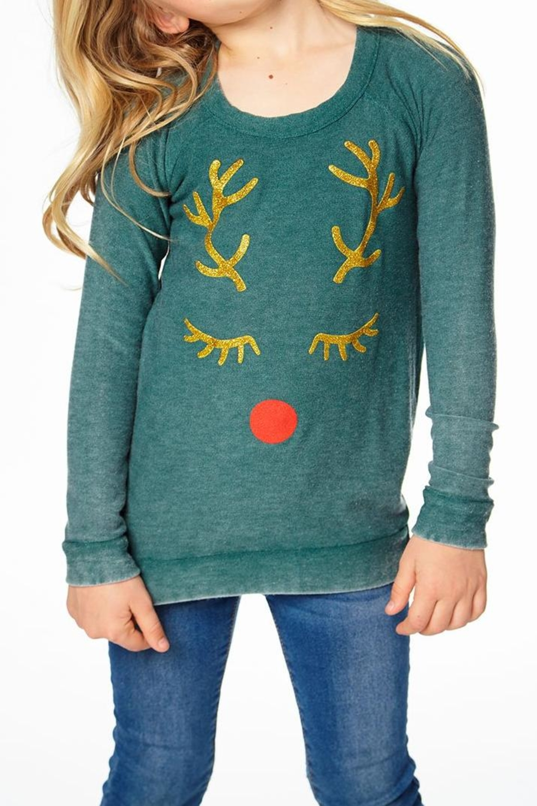 Chaser Reindeer Face Top - Main Image