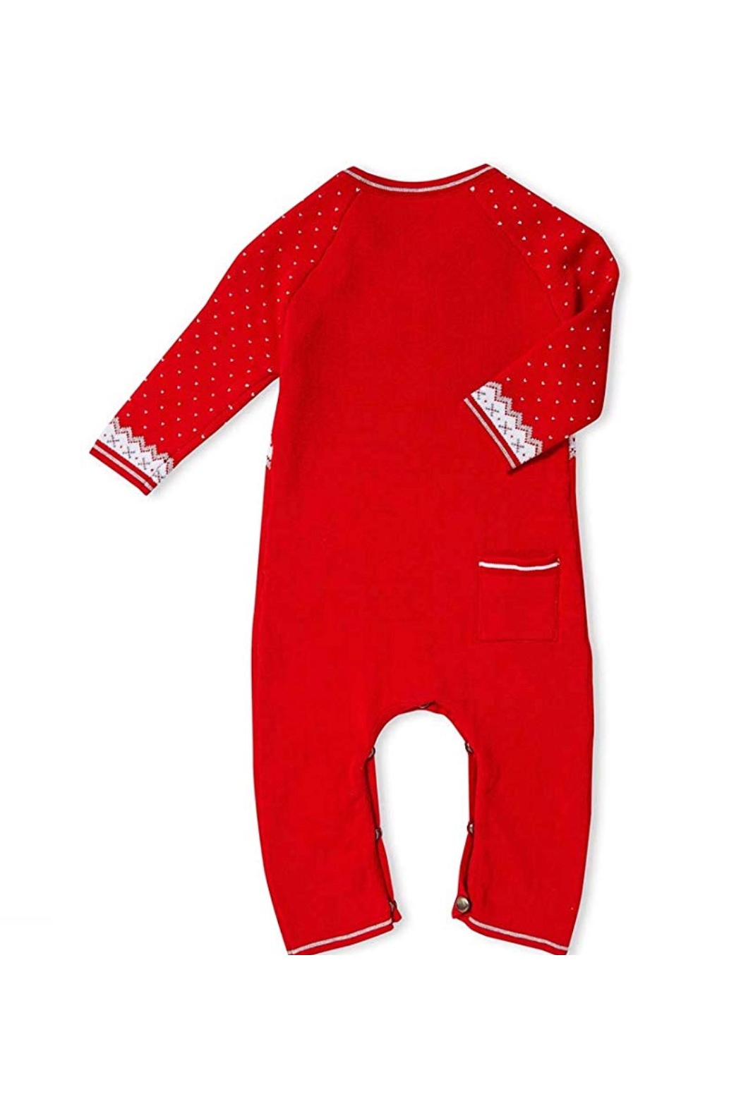 Angel Dear  Reindeer Fair Isle Coverall - Front Full Image