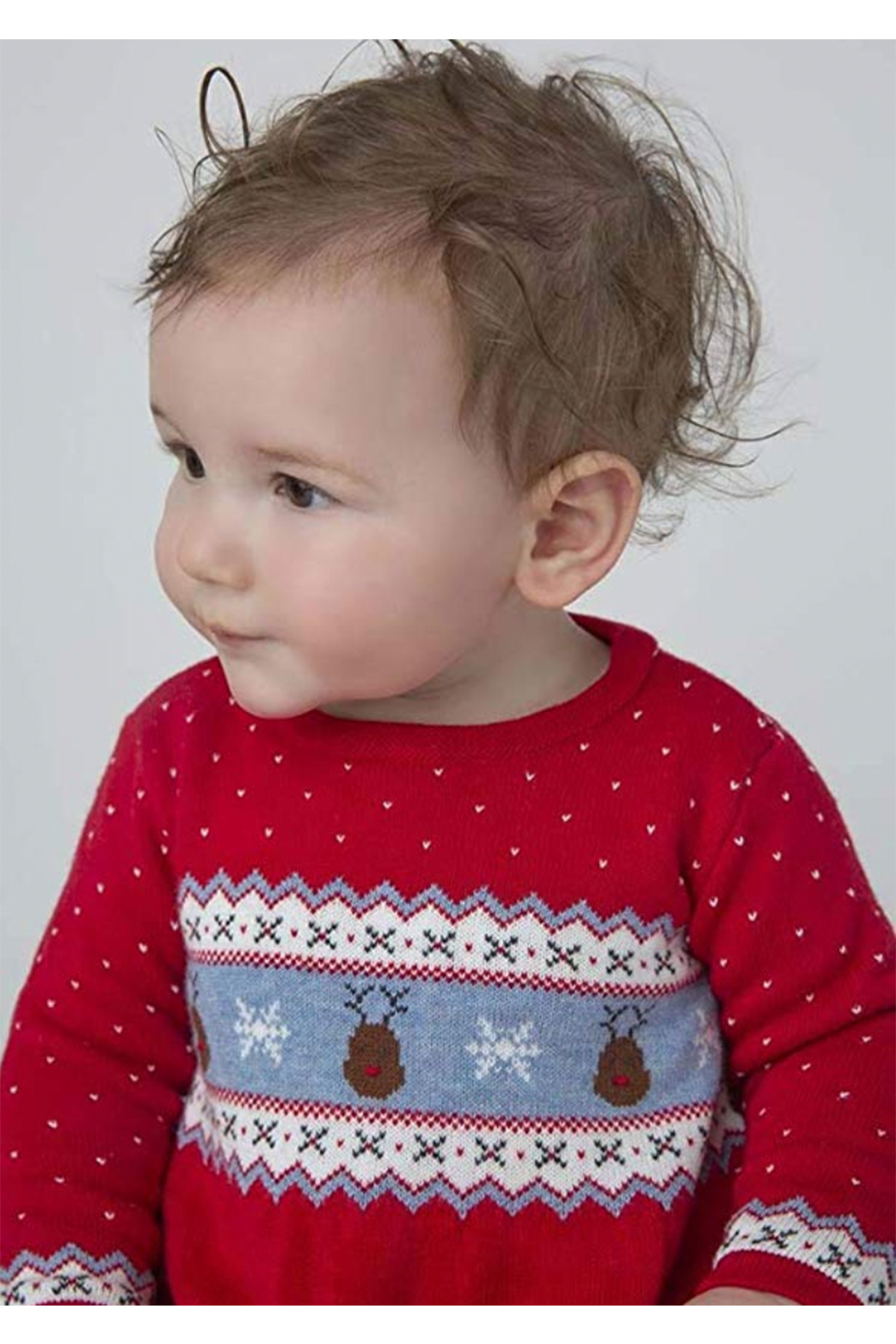 Angel Dear  Reindeer Fair Isle Coverall - Side Cropped Image