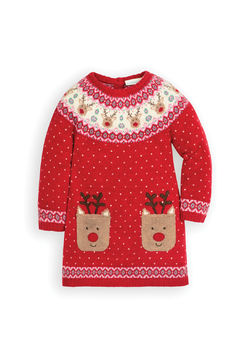 Shoptiques Product: Reindeer Fair Isle Dress