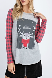 12pm by Mon Ami Reindeer Merry Christmas LS Tee - Product Mini Image