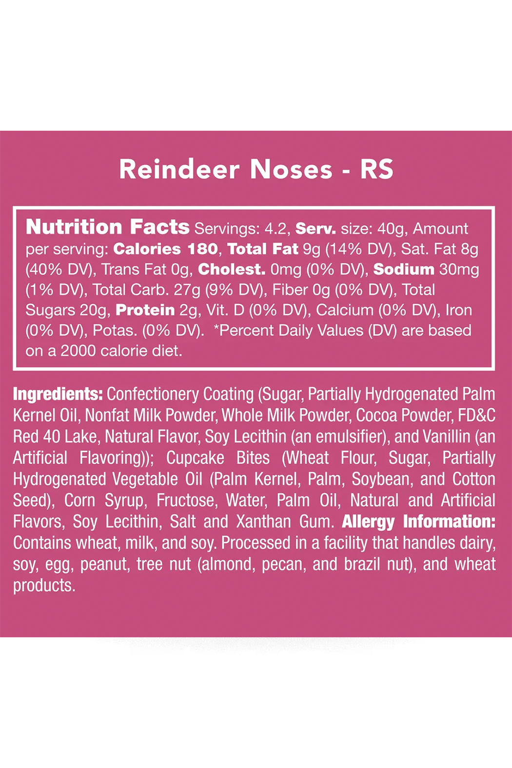 Candy Club Reindeer Noses - Front Full Image