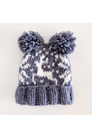 The Blueberry Hill Reindeer Pom Pom Knit Hat - Product Mini Image