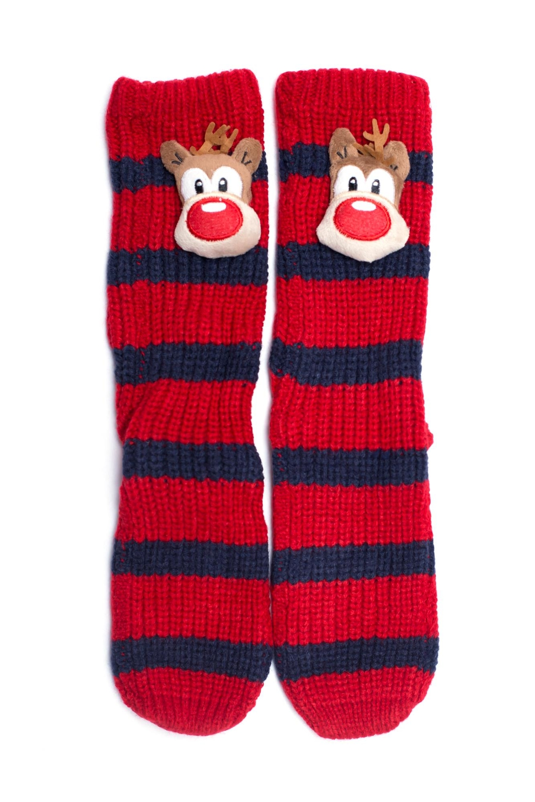 Ruggine Reindeer Sleep Socks - Front Full Image