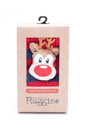 Ruggine Reindeer Sleep Socks - Front cropped