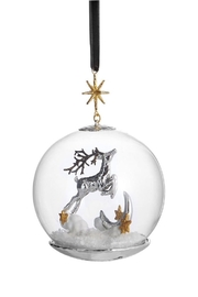 Michael Aram Reindeer Snow Ornament - Front cropped