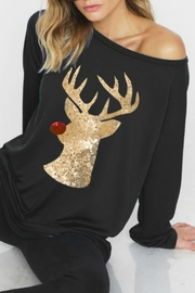 Bibi Reindeer Sparkle Sweatshirt - Product Mini Image
