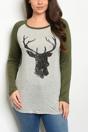 Lyn-Maree's  Reindeer Top - Front cropped