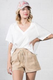 Very J  Relaxed Basic Tee - Front cropped