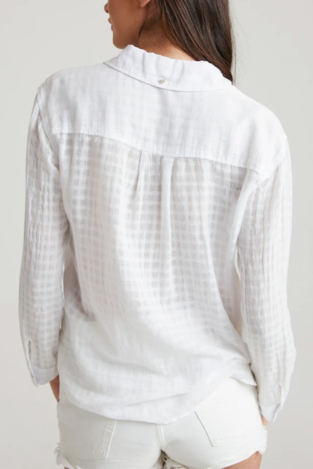Bella Dahl  Relaxed Button Down Top - Front Full Image