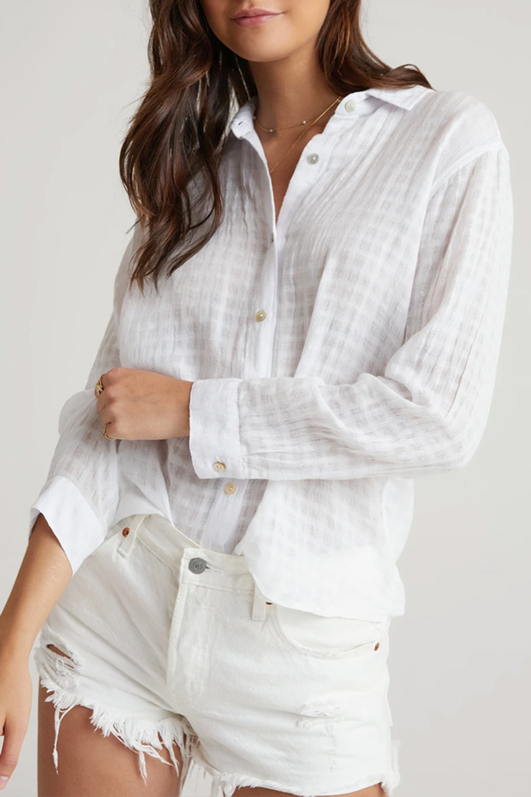 Bella Dahl  Relaxed Button Down Top - Main Image