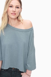 Splendid Relaxed Cotton Tee - Front cropped