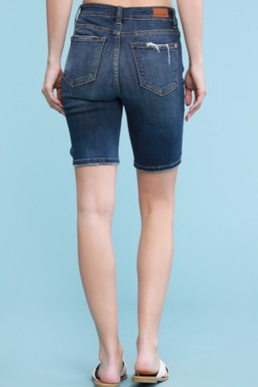 Judy Blue Relaxed Denim Bermuda Short - Side Cropped Image