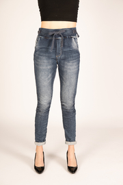 Femme Fatale Relaxed Denim Jeans - Product Mini Image