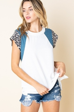 Lovely J Relaxed Fit Color Block Tee PLUS SIZE TEE - Product List Image