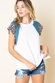 Lovely J Relaxed Fit Color Block Tee PLUS SIZE TEE - Product Mini Image