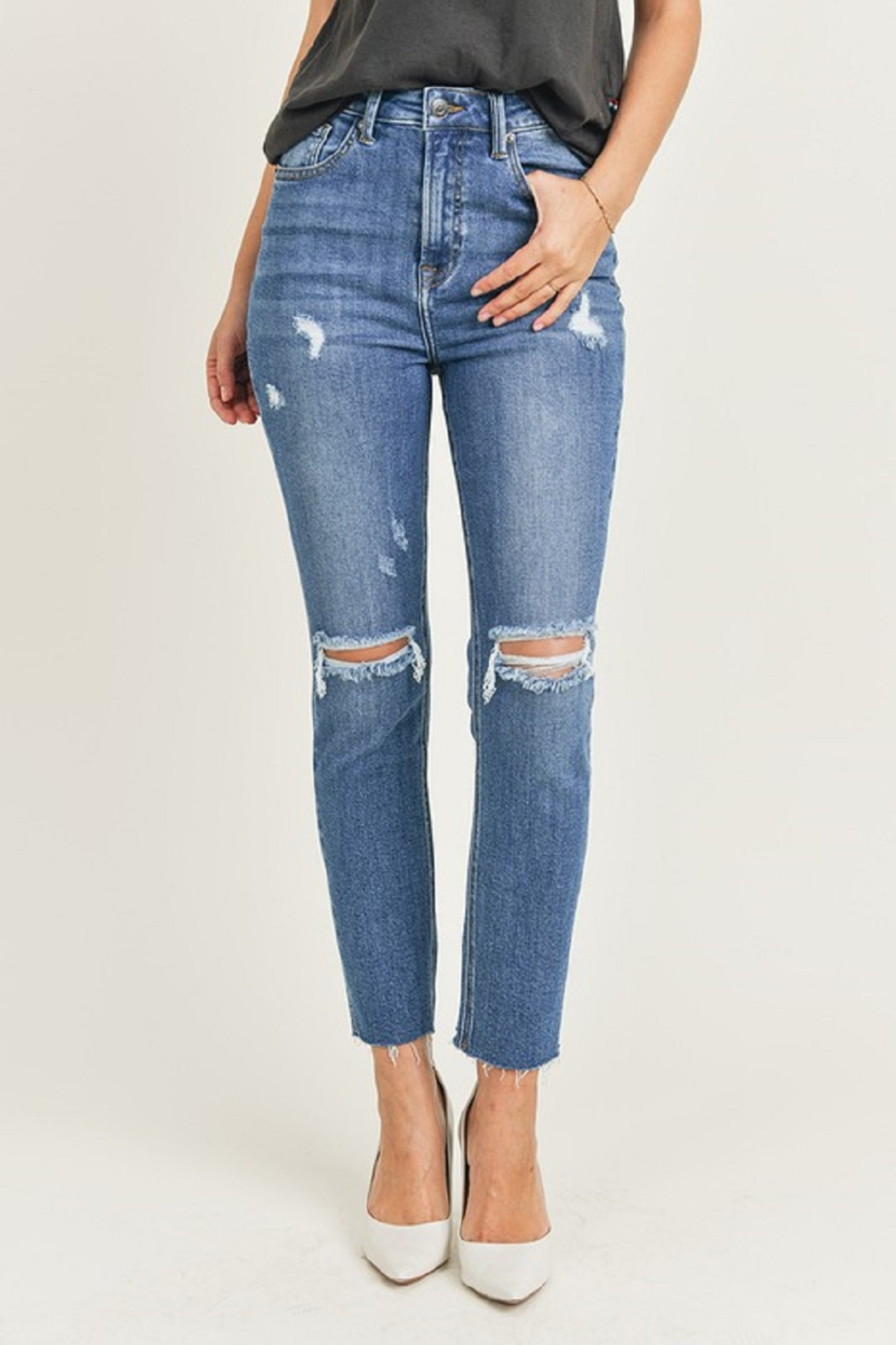 Risen Relaxed Fit Skinny - Front Full Image