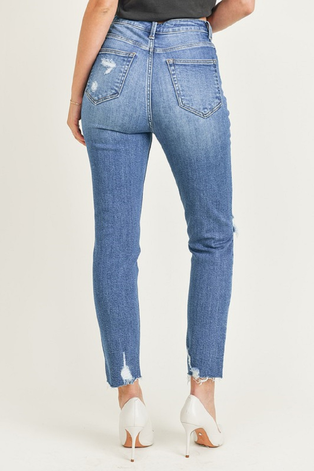 Risen Relaxed Fit Skinny - Back Cropped Image