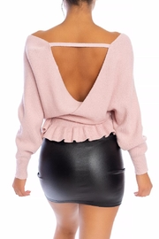 luxxel Relaxed-Fit Tie Sweater - Front full body