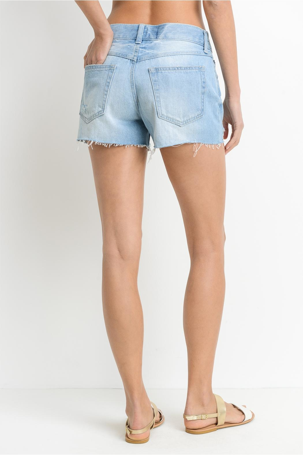 Just USA Relaxed Frayed Shorts - Side Cropped Image