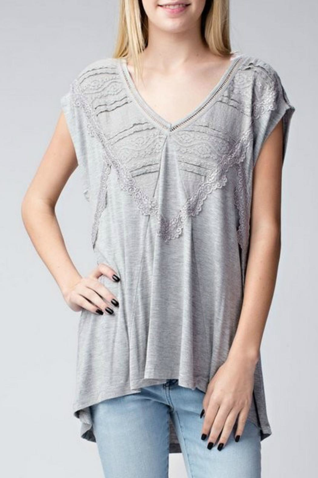 Jodifl Relaxed Lace-Trimmed Tunic - Main Image