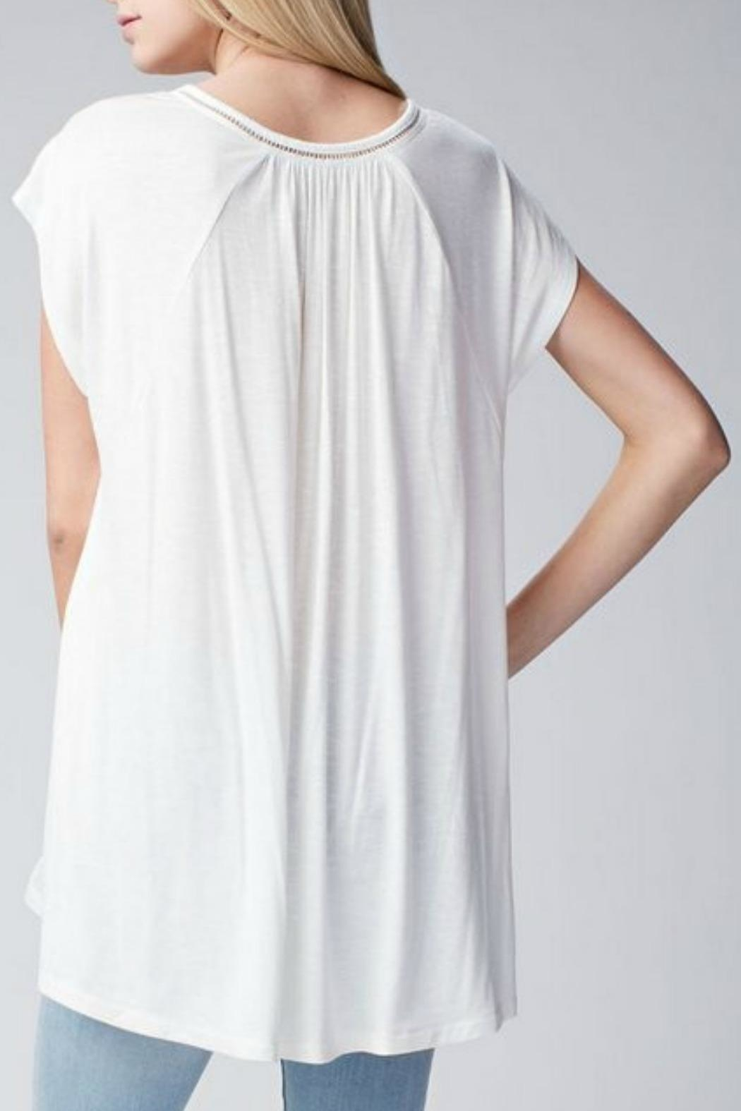 Jodifl Relaxed Lace-Trimmed Tunic - Front Full Image