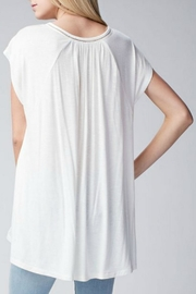 Jodifl Relaxed Lace-Trimmed Tunic - Front full body