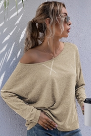 Esley Collection Relaxed Long Sleeve Top - Product Mini Image