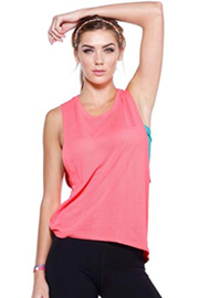 Nikibiki  Relaxed Mesh Muscle Tank - Front cropped