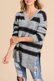 Doe & Rae Relaxed Striped Pullover - Product Mini Image