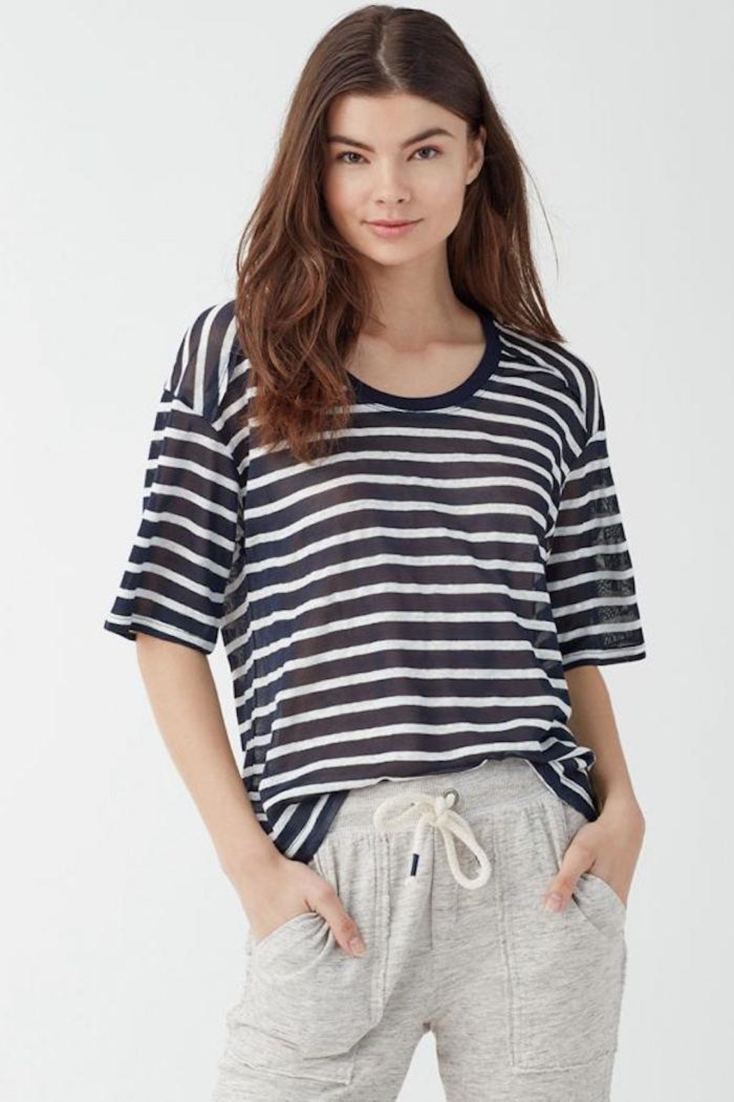 Splendid Relaxed Striped Tee - Main Image