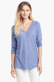 Nic + Zoe  Relaxed stripes top - Product Mini Image