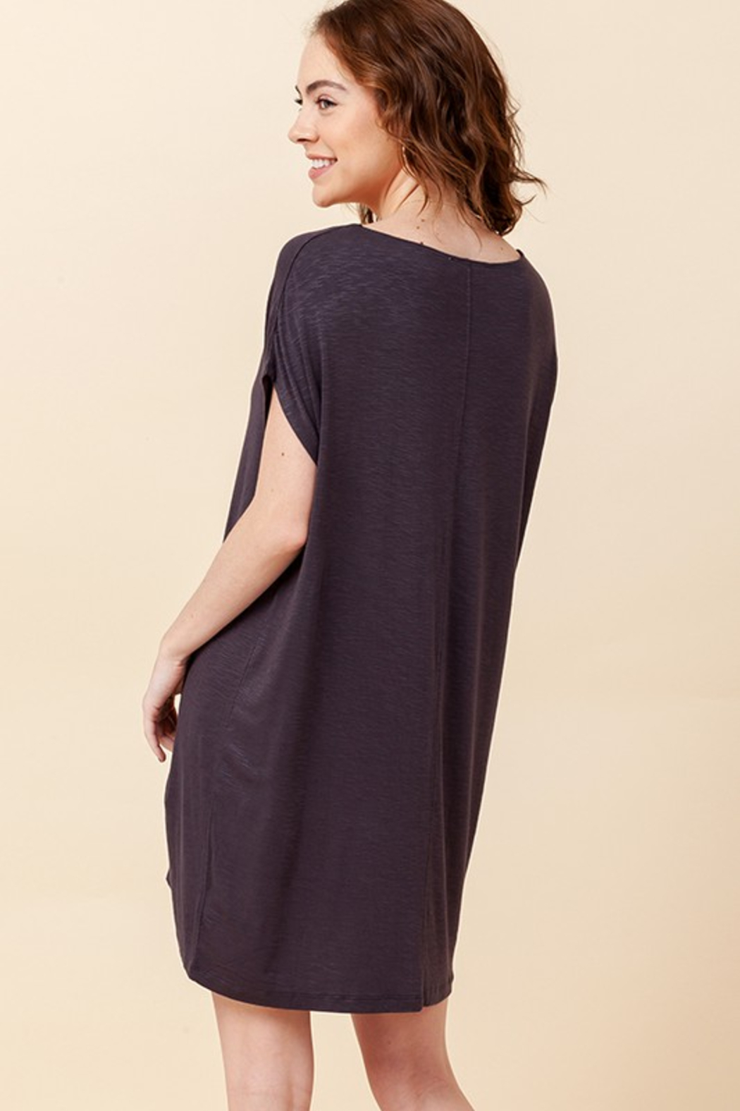 R+D  Relaxed T-Shirt Dress - Side Cropped Image