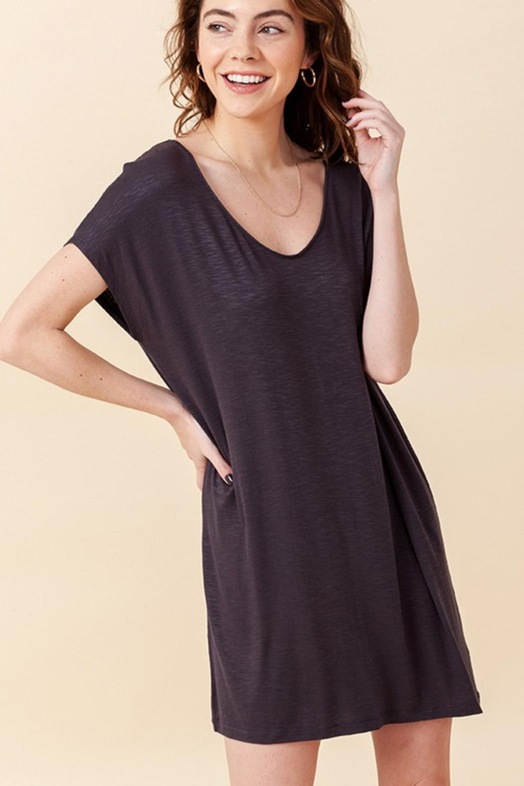 R+D  Relaxed T-Shirt Dress - Main Image