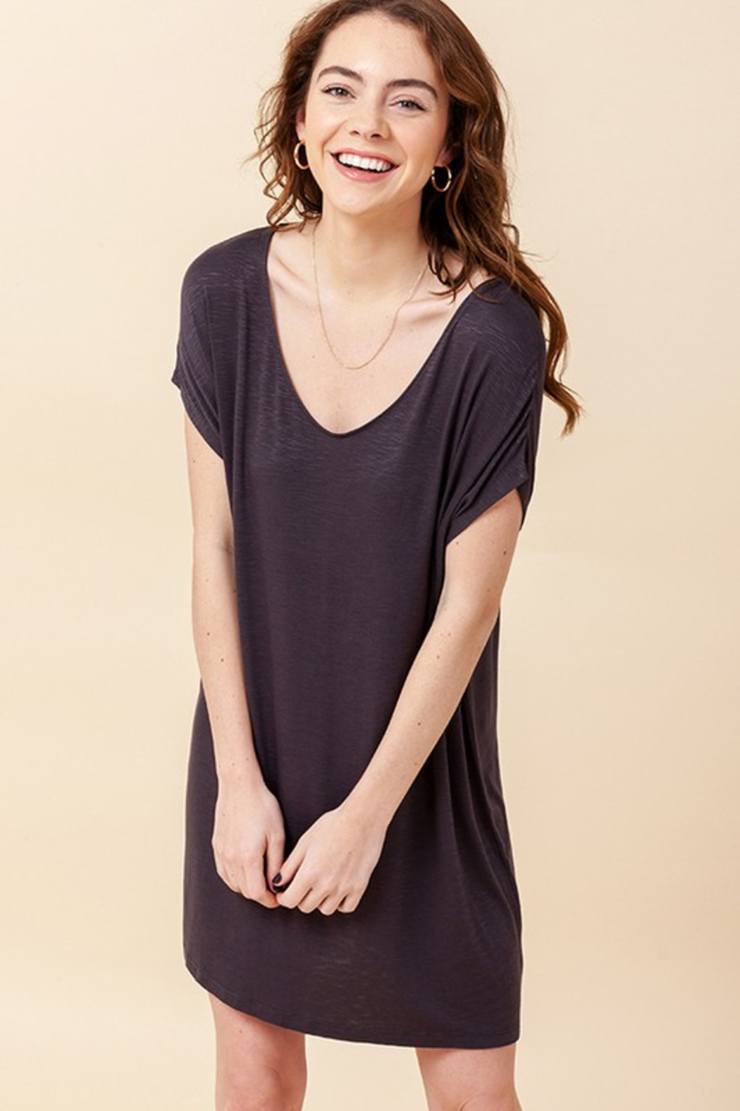 R+D  Relaxed T-Shirt Dress - Front Full Image