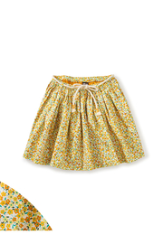 Tea Collection  Removeable Tie Twirl Skirt - Wildflowers In Gold - Product Mini Image