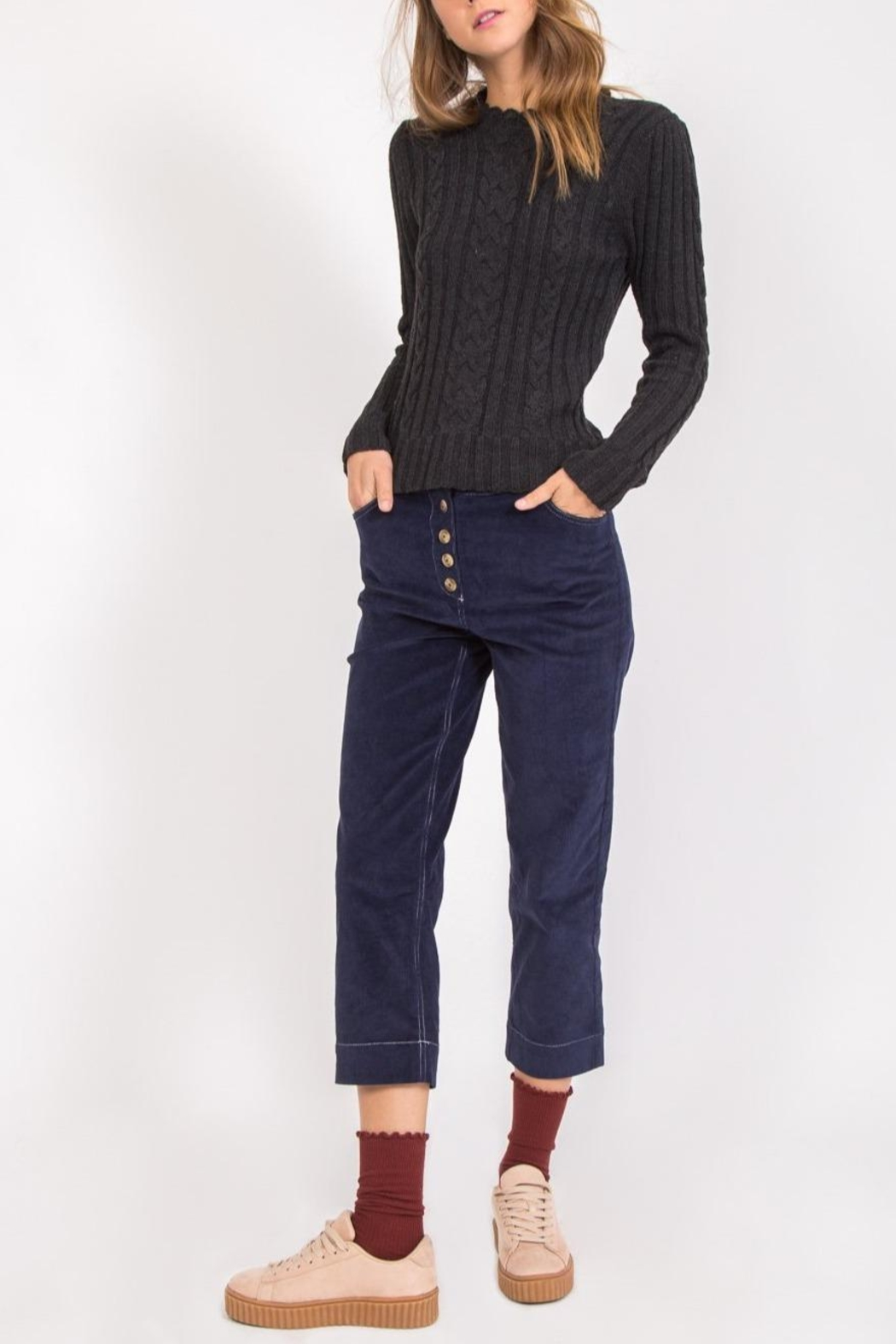 Movint Remy Corduroy Trousers - Main Image