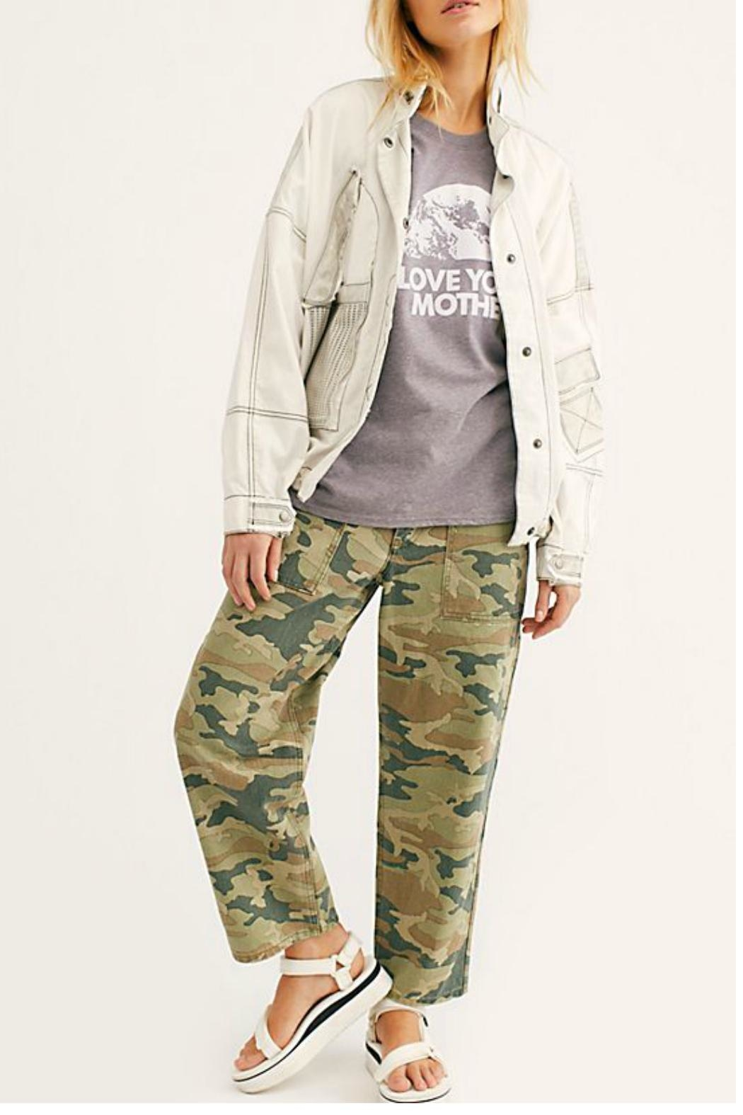 Free People Remy Pant Camo - Front Cropped Image