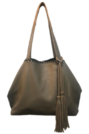 Laggo Remy Reversible Tote with Studs - Product Mini Image