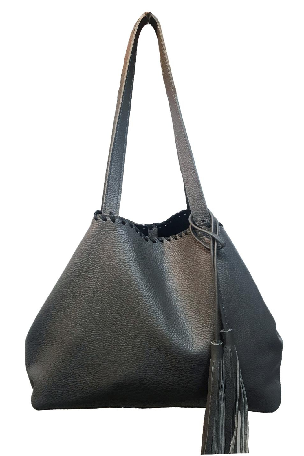 Laggo Remy Reversible Tote with Studs - Front Cropped Image