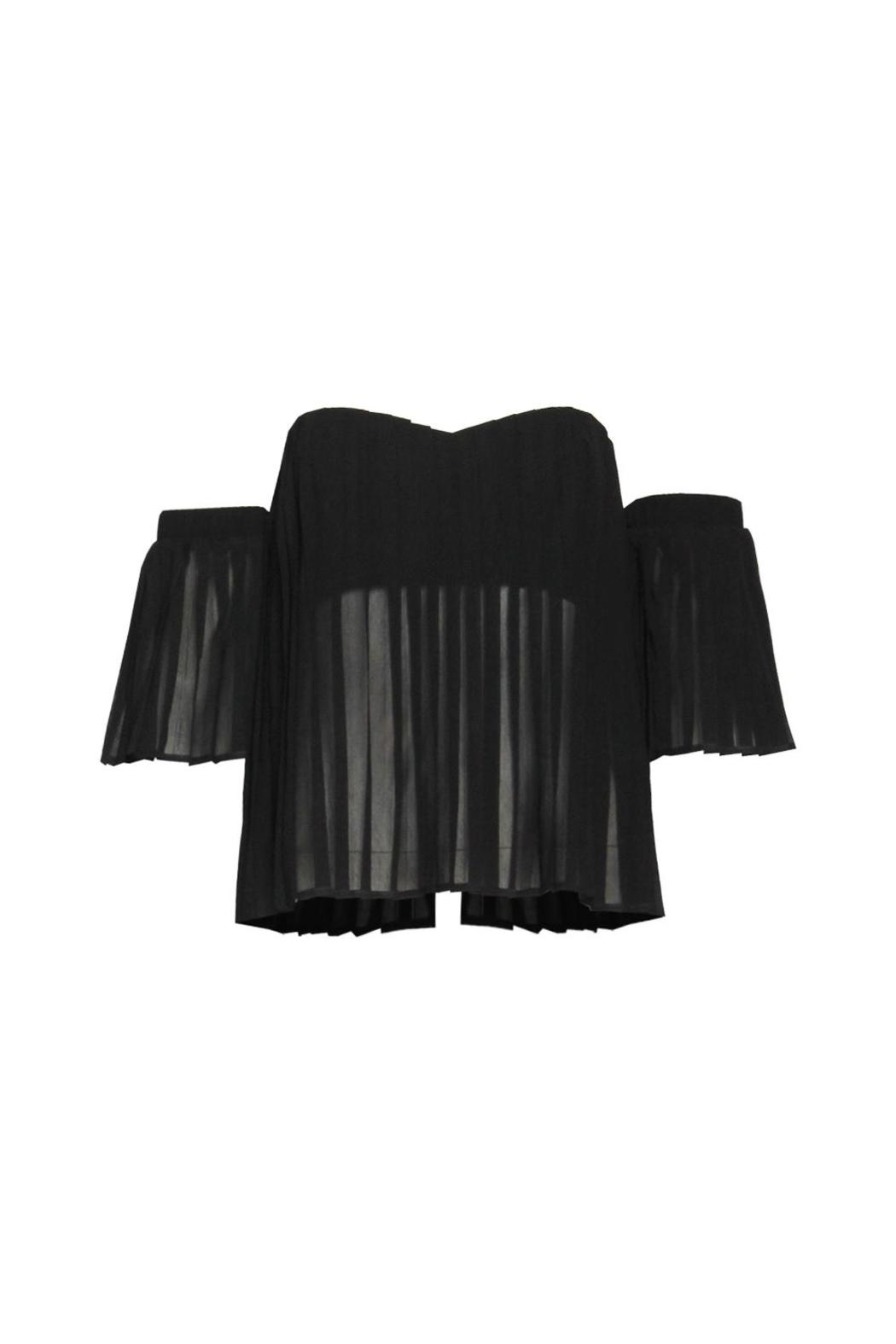 Renamed Apparel Pleated Off-Shoulder Top - Main Image