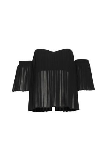 Shoptiques Product: Pleated Off-Shoulder Top - main