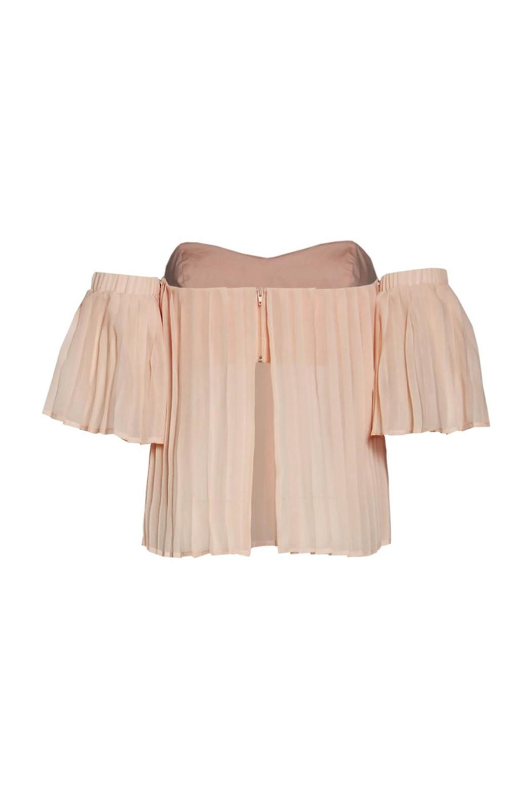 Renamed Apparel Pleated Off-Shoulder Top - Front Full Image