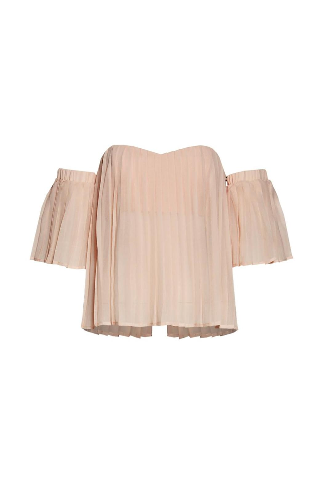 Renamed Apparel Pleated Off-Shoulder Top - Front Cropped Image