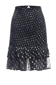 Shoptiques Product: Black And Gold Ruffle Skirt
