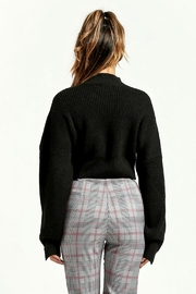 Renamed Clothing Black Cropped Sweater - Front full body