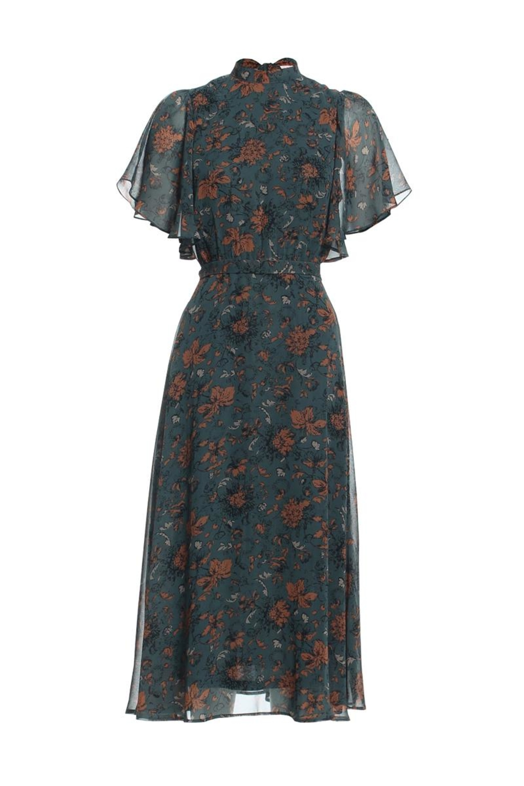Renamed Clothing Floral Midi Dress - Main Image