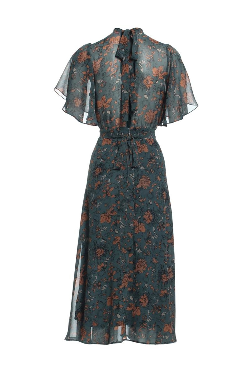 Renamed Clothing Floral Midi Dress - Front Full Image